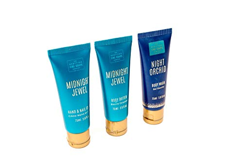 The Scottish Fine Soaps Midnight Jewel and Night Orchid Beauty Trio