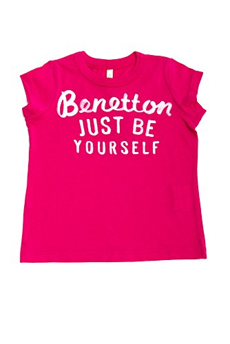 The United Colors of Benetton Sleeveless Girls Top (9-12 Months) Fuchsia Pink