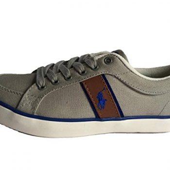 Ralph Lauren Polo Grey Canvas Junior Bolingbrook Size UK 5.5 EU 39