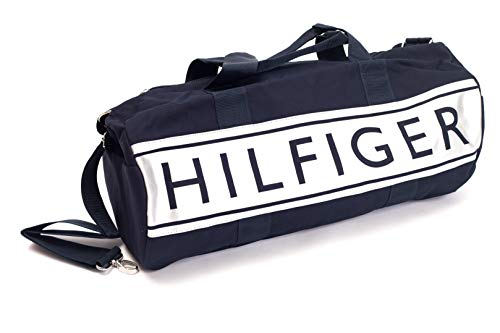 Tommy Hilfiger Mens Navy Blue And Silver Duffle Bag