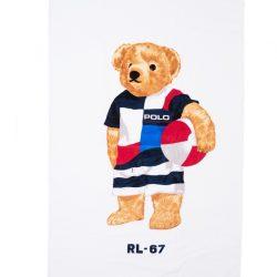 Ralph Lauren Polo Mens Blue Bear Beach Towel