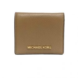 Michael Kors Jet Set Travel Dark Khaki Caryall Leather Card Case