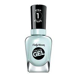 Sally Hansen Miracle Gel Nail Polish, Black and Blue Shades, 420 Tea Party, 14.7 ml