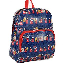 Cath Kidston Backpack Rucksack Marching Bands in Mid Blue Oilcloth