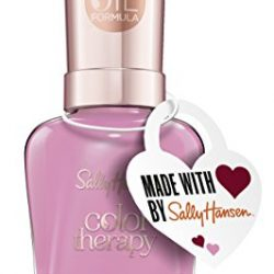 Sally Hansen Nail Polish, Love and Adorn Valentines Day Ltd Heart Color 516 Color Therapy Pink Pack of 1 x 14.7 ml)
