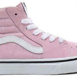 Vans Skater High Tops Kids UK 2.5 in Lilac Snow/True White