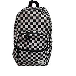 Vans Ranged backpack black white checkered large university school bag casual travel Laptop bag