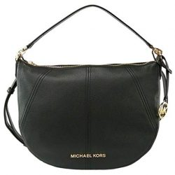 Michael Kors Bedford Hobo Shoulder Bag (Medium, Black)