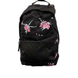 VANS Black Floral BackPack Turbon laptop Travel Uni School Work