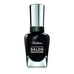 Sally Hansen Complete Salon Manicure Nail Polish, Black and Blue Shades, Hooked on Onyx