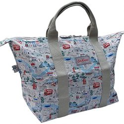 Cath Kidston London Map Foldaway Shopper Overnight Bag and Pouch in Stone