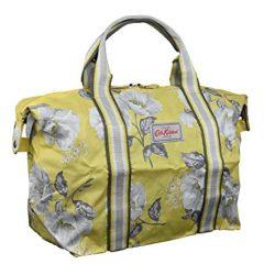 Cath Kidston Foldaway Shopper Bag Holdall Mid Wild Poppies in Egg Yolk Yellow