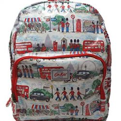 Cath Kidston 'London Streets' Large Oilcloth Rucksack Backpack in Ivory Oilcloth