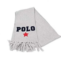 Ralph Lauren Polo Grey Varsity Scarf